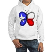 Texas Flag Butterfly Hoodie