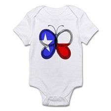 Texas Flag Butterfly Body Suit
