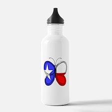 Texas Flag Butterfly Water Bottle