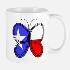 Texas Flag Butterfly Mugs