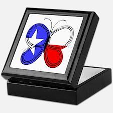 Texas Flag Butterfly Keepsake Box