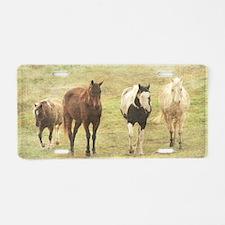 Three Horses and a Pony Aluminum License Plate