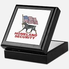 DOBERMAN HOMELAND SECURITY Keepsake Box