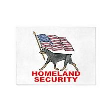 DOBERMAN HOMELAND SECURITY 5'X7'area Rug