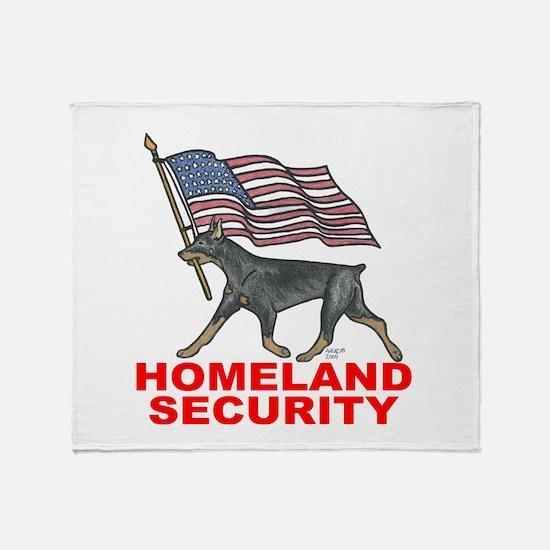 DOBERMAN HOMELAND SECURITY Throw Blanket