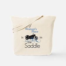 Womans Place, Saddle Flourish Tote Bag