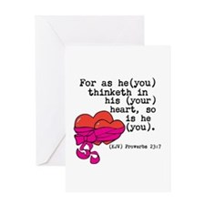 Proverbs 23:7 Greeting Cards