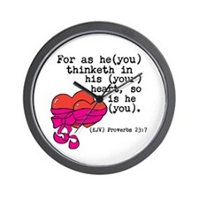 Proverbs 23:7 Wall Clock