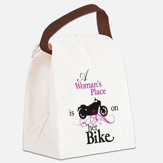 Womans Place, Bike Flourish Canvas Lunch Bag