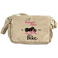 Womans Place, Bike Flourish Messenger Bag