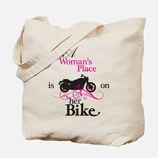 Womans Place, Bike Flourish Tote Bag