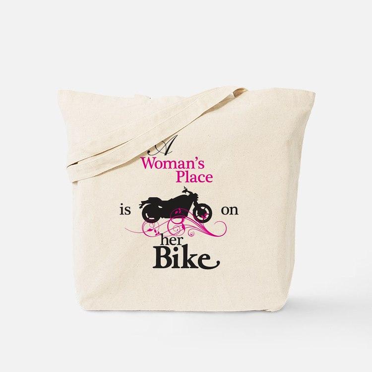 Womans Place, Bike Flourish Tote Bag