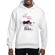 Womans Place, Bike Flourish Hoodie