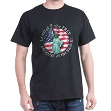America Free and Brave T-Shirt