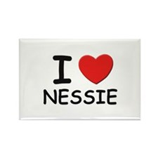 I love nessie Rectangle Magnet