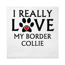 I Really Love My Border Collie Queen Duvet