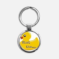 What the..... Duck Round Keychain