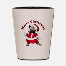 Christmas Santa Pug Shot Glass