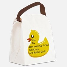 Rubber Duck, Function Canvas Lunch Bag