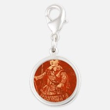 TheYoung Queen Silver Round Charm