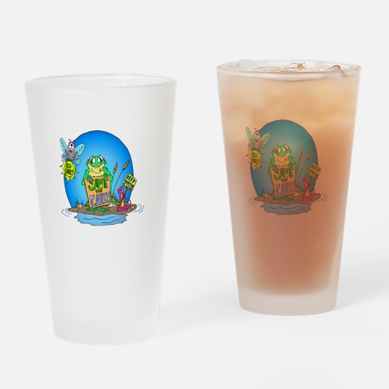 Earthday in the Swamp Drinking Glass