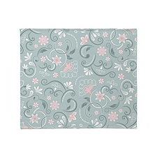 Floral Pattern Throw Blanket