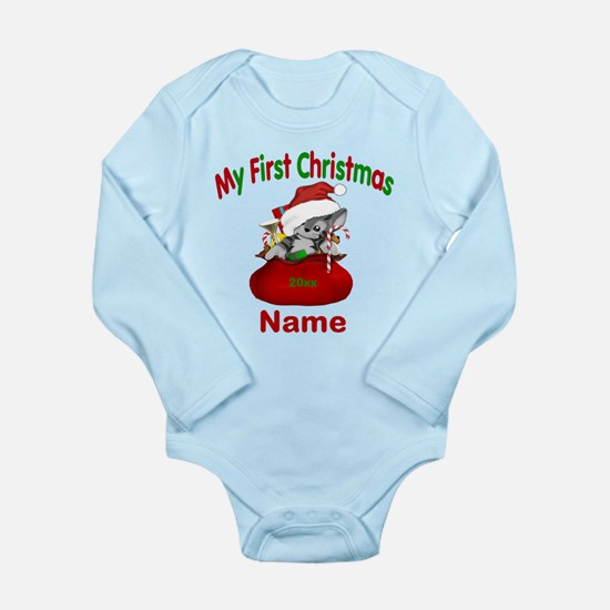 1st Christmas Kitty Personalized Body Suit