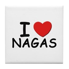 I love nagas Tile Coaster