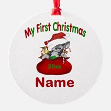1st Christmas Kitty Personalized Ornament