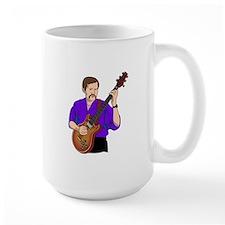 guitar player male semi hollow purple shirt Mugs