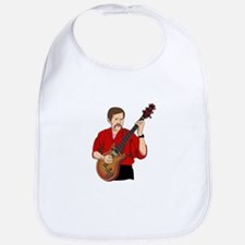 guitar player male semi hollow red shirt Bib