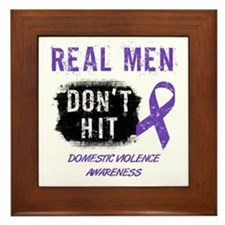 Domestic Violence Awareness Framed Tile