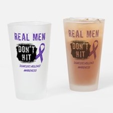Domestic Violence Awareness Drinking Glass