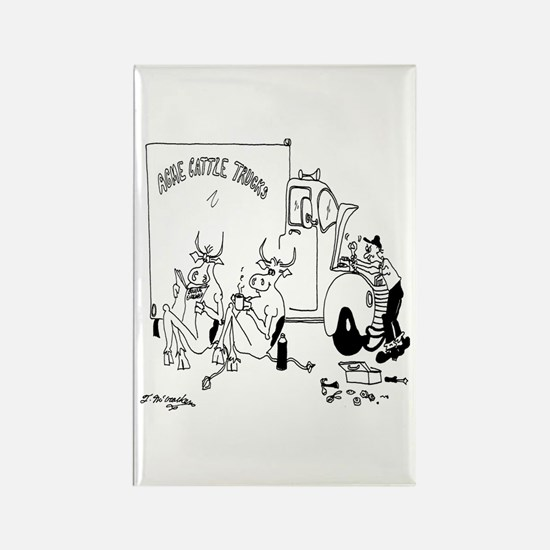 Cows on Coffee Break Rectangle Magnet