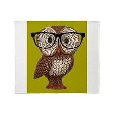 Hipster Owl Wearing Eyeglasses Nerd KItch Kawaii T