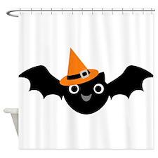 Happy Bat Shower Curtain
