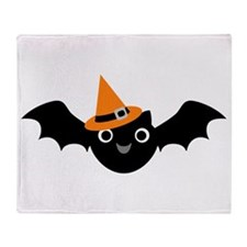 Happy Bat Throw Blanket
