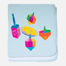 Hanukkah Design for Kids baby blanket