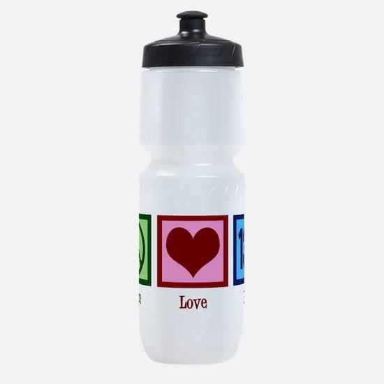 Peace Love 13.1 Sports Bottle