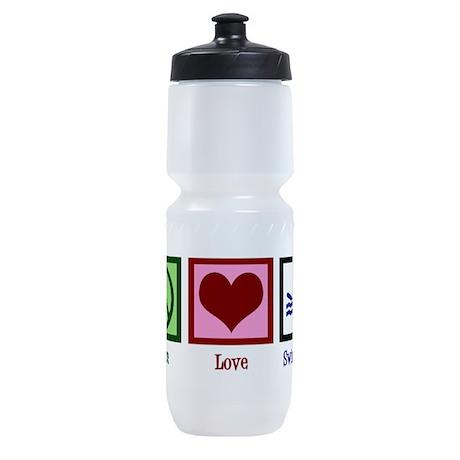 Peace Love Swimming Sports Bottle