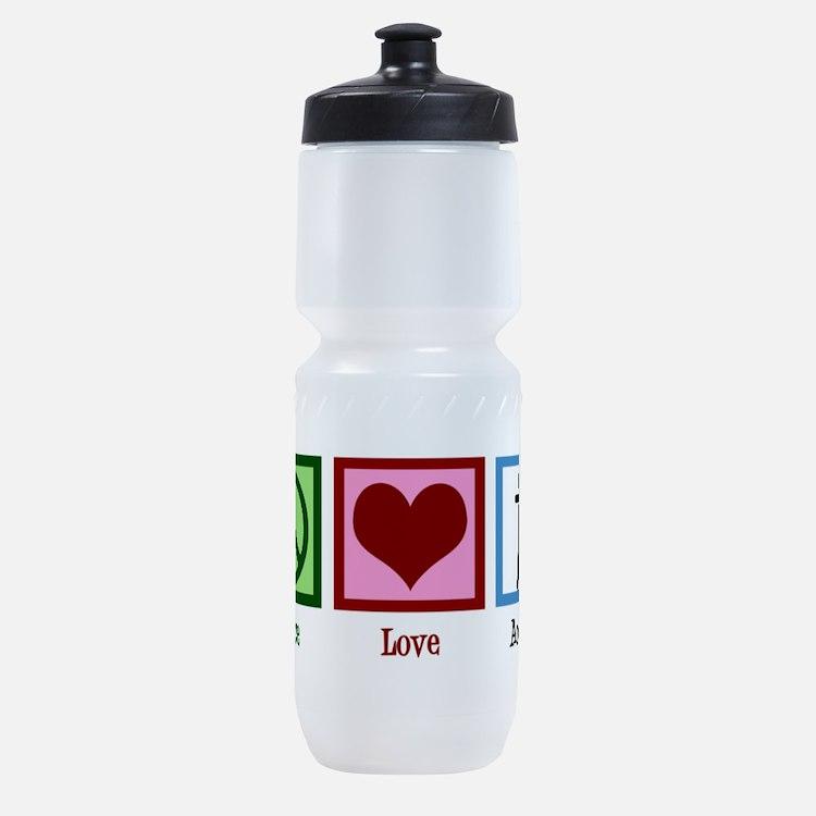 Peace Love Archery Sports Bottle