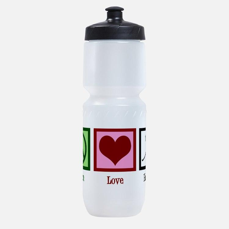 Peace Love Hockey Sports Bottle