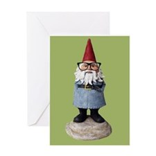 Hipster Garden Gnome with Eyeglasses Nerd Kitsch G