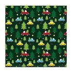 Christmas Tree Shopping Holiday Tile Coaster