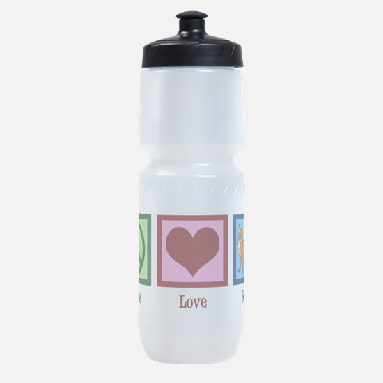 Peace Love Foxes Sports Bottle