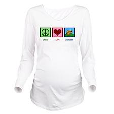Peace Love Hamsters Long Sleeve Maternity T-Shirt