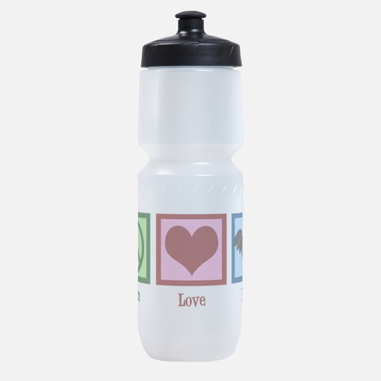 Peace Love Bats Sports Bottle