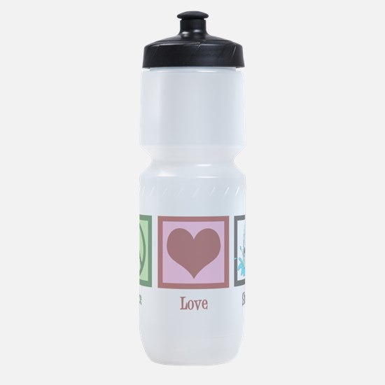 Peace Love Sharks Sports Bottle