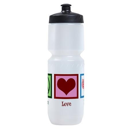 Peace Love Pigs Sports Bottle