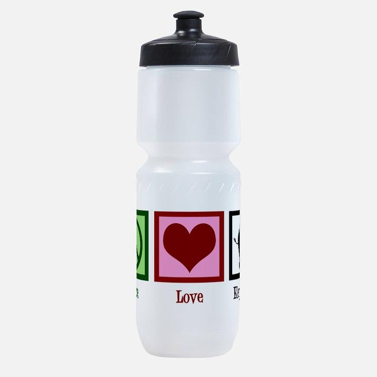 Peace Love Elephants Sports Bottle